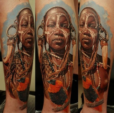 Tattoo realistic by Dmitriy Samohin