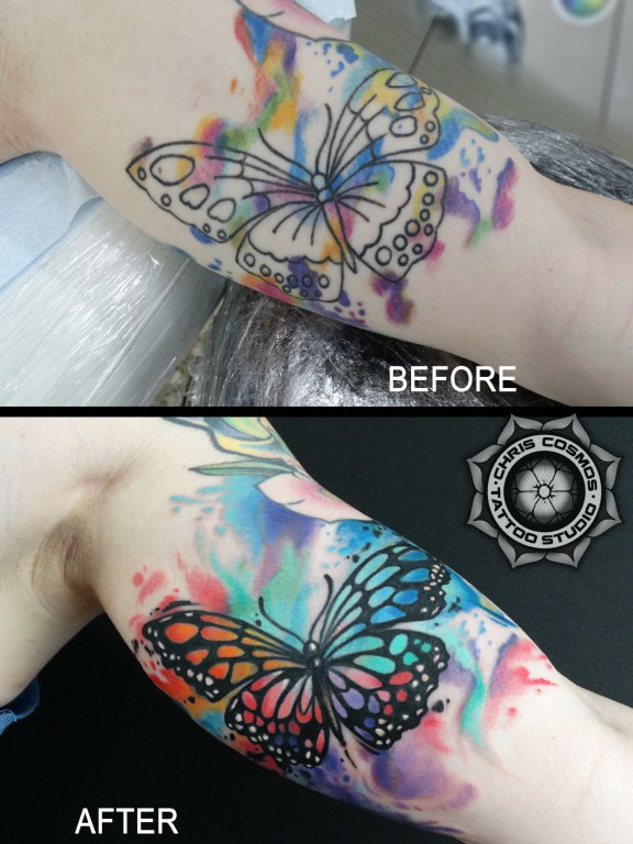 butterfly watercolor cover tattoo color cosmos limassol